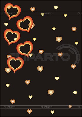 Valentines background with hearts | Stock Vector Graphics |ID 3118723