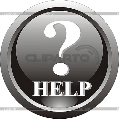Black icon - help | Stock Vector Graphics |ID 3118747
