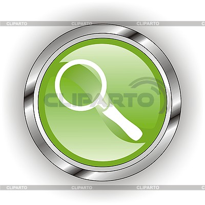 Green icon of magnifying glass | Stock Vector Graphics |ID 3118810