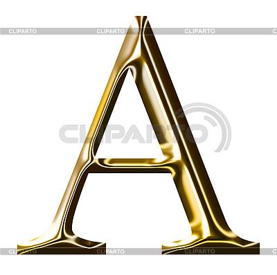 Goldenes Alphabet-Symbol - Großbuchstaben | Illustration mit hoher Auflösung |ID 3123172