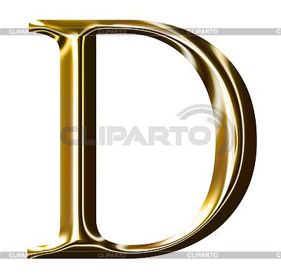 Symbol Alfabet złota - wielką literą | Stockowa ilustracja wysokiej rozdzielczości |ID 3123177