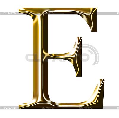 Goldenes Alphabet-Symbol - Großbuchstaben | Illustration mit hoher Auflösung |ID 3123178