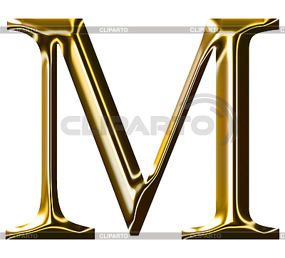 Goldenes Alphabet-Symbol - Großbuchstaben | Illustration mit hoher Auflösung |ID 3123192