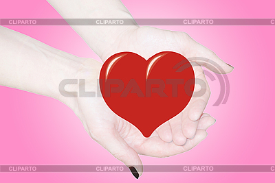 Hands holding heart, love or medical concept  | High resolution stock photo |ID 3123220