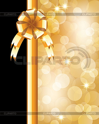 Background with bow, stars and blurry light | Stock Vector Graphics |ID 3204305