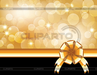 Background with bow, stars and blurry light | Stock Vector Graphics |ID 3204307
