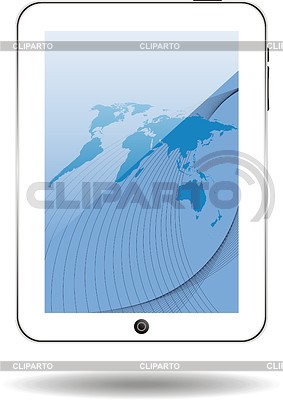World map on tablet computer | Stock Vector Graphics |ID 3240123