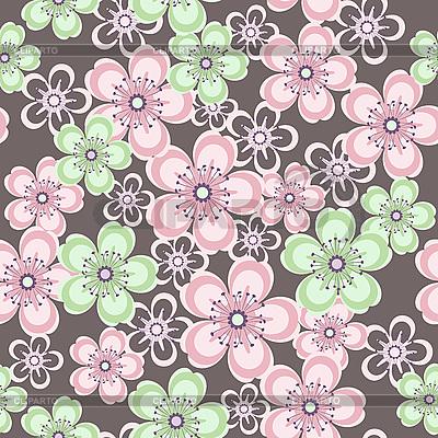 아름 다운 꽃 원활한 패턴 | 벡터 클립 아트 |ID 3122933