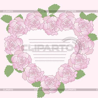 Romantyczna ramka z różami | Klipart wektorowy |ID 3122937