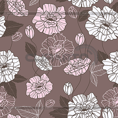 Seamless pattern with poppy flowers | Stock Vector Graphics |ID 3135800