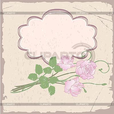 Romantyczny tła z róż | Klipart wektorowy |ID 3184147