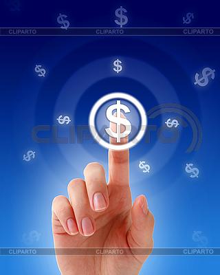 Hand pressing money button   High resolution stock photo  ID 3107330