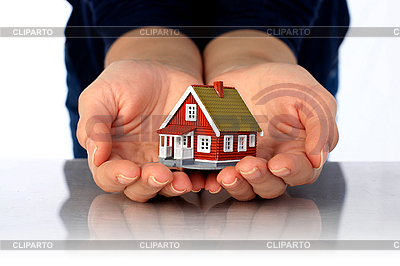 Hands and small house | High resolution stock photo |ID 3108300