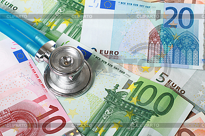 Stethoscope and euro money | High resolution stock photo |ID 3108334