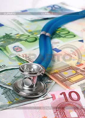 Stethoskop und Euro-Banknoten | Foto mit hoher Auflösung |ID 3108336