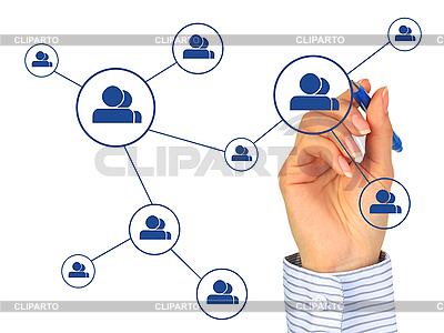 Social network concept. | Foto stockowe wysokiej rozdzielczości |ID 3108392