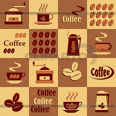 Background with coffee icons | Stock Vector Graphics |ID 3107666
