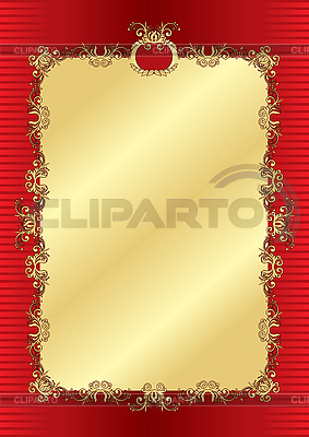Gold vintage frame | Klipart wektorowy |ID 3108425