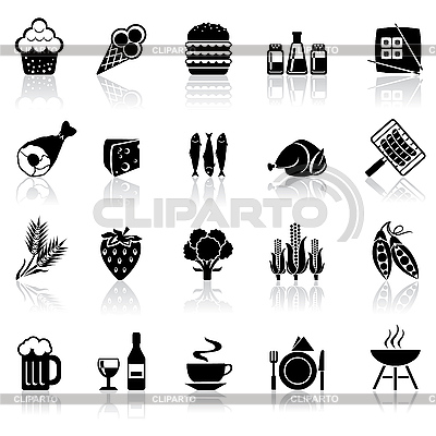 Food icons | Stock Vector Graphics |ID 3108502
