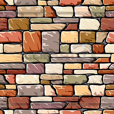 Farbige Steinmauer | Stock Vektorgrafik |ID 3108506