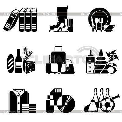 Supermarket icons | Stock Vector Graphics |ID 3108881