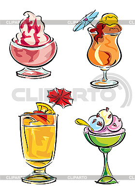 Cold desserts | Stock Vector Graphics |ID 3108895