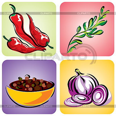 Spices set   Stock Vector Graphics  ID 3108918