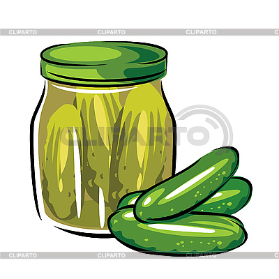 Canned pickles | Stock Vector Graphics |ID 3109099
