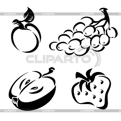 Fruit icons | Stock Vector Graphics |ID 3125794