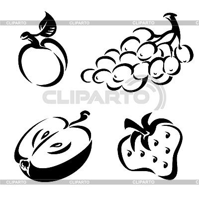 Ikony owocowe | Klipart wektorowy |ID 3125794