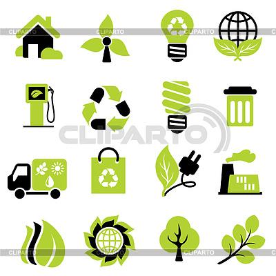 Экологических знаков | Векторный клипарт |ID 3228076
