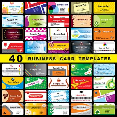 40 Visitenkarten | Stock Vektorgrafik |ID 3275095