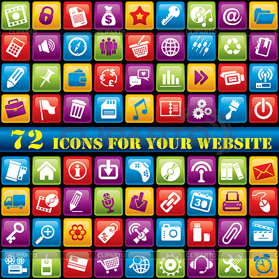 Color web icons | Stock Vector Graphics |ID 3275104