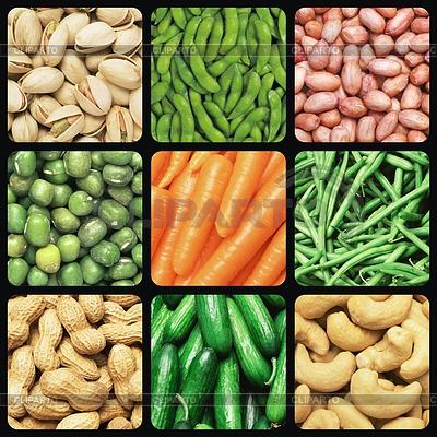 Nüsse und Gemüse | Foto mit hoher Auflösung |ID 3350994