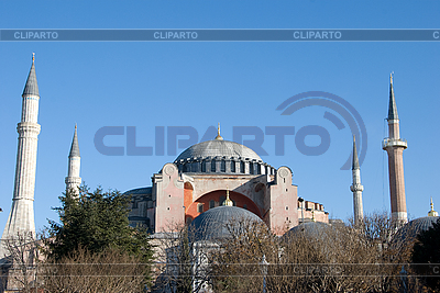 Hagia Sophia, Panoramaaussicht - Türkei, Istanbul   Foto mit hoher Auflösung  ID 3109465