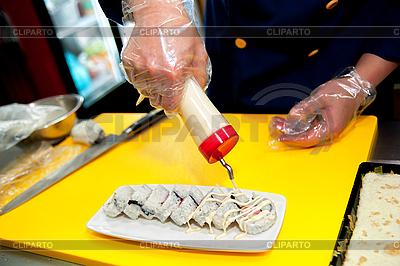 Kochen von Sushi | Foto mit hoher Auflösung |ID 3122918