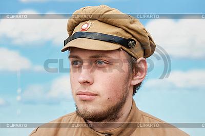 Porträt Soldat im Retro-Stil | Foto mit hoher Auflösung |ID 3168339