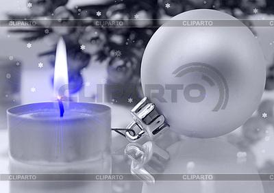 Christmas ball and candle | High resolution stock illustration |ID 3112581