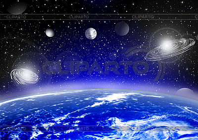 Earth in space   High resolution stock illustration  ID 3112594