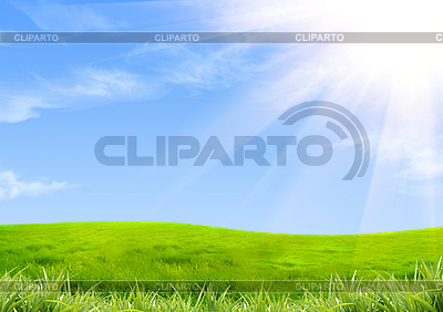 Green grass and sky | High resolution stock illustration |ID 3112613