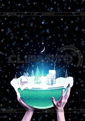 手中拿着圣诞玻璃球 | 高分辨率照片 |ID 3112633