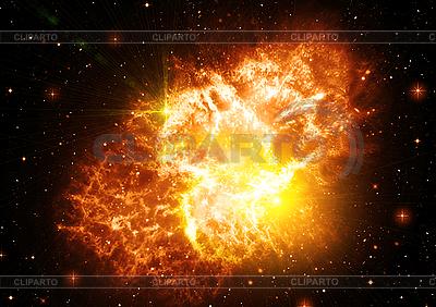 Абстрактный космический фон со звездами   Иллюстрация большого размера  ID 3112671