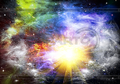 Abstract space background with stars | High resolution stock illustration |ID 3112672