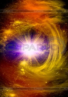 Яркая звезда в глубоком космосе | Иллюстрация большого размера |ID 3112673