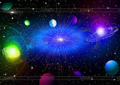 Sterne, Planeten und Galaxien | Illustration mit hoher Auflösung |ID 3112742