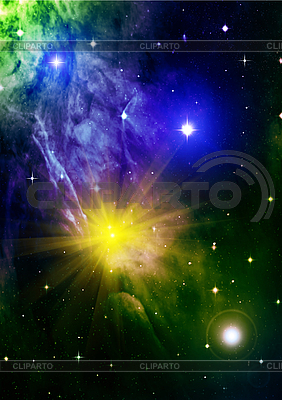 Abstract space background with stars | High resolution stock illustration |ID 3112747