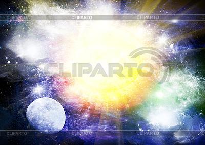 Abstrakter Hintergrund mit Sternen und Planeten | Illustration mit hoher Auflösung |ID 3112750