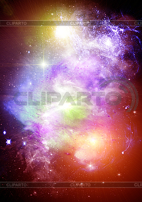 Abstract space background with stars   High resolution stock illustration  ID 3112758