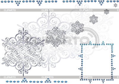 Christmas background with snowflakes | High resolution stock illustration |ID 3116343