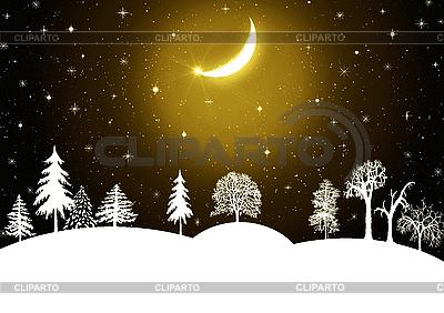 Beautiful Winter scene | High resolution stock illustration |ID 3116460